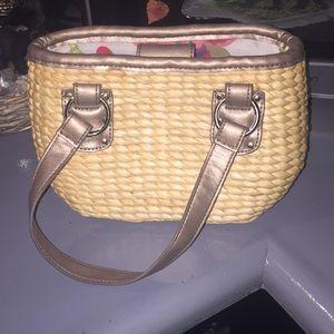 Liz Claiborne basket weave purse